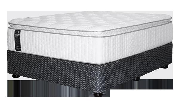 Mattrafoam Guilford Luxury Pillow Top Cool Gel Memory Foam-Bed Set #2 Meele Base @Lunar Sleep Systems